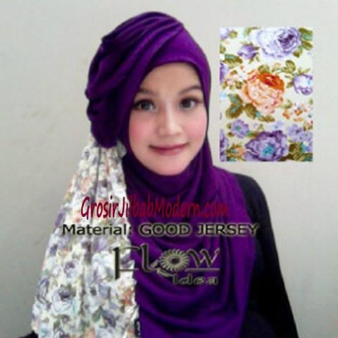 Jilbab Syria Instant Qaireen Ungu