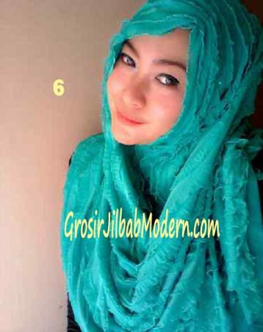 Jilbab Syrpash Ruffle Sparkling No 6 Toska