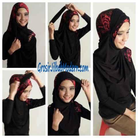 Cara Pemakaian Jilbab Syria Lindsey
