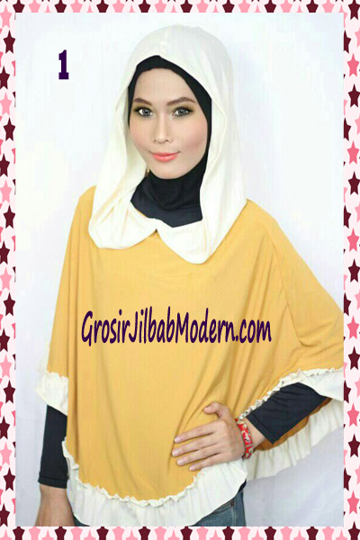 Jilbab Jumbo Capuchon No 1 Kuning Kunyit