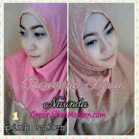 Jilbab Syria Bolak Balik Roweena No 1 Pink Salem