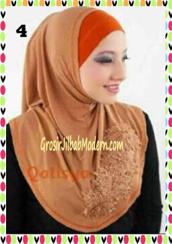 Jilbab Syria Ziyan No 4 Coklat Kayu