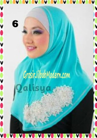 Jilbab Syria Ziyan No 6 Toska Muda