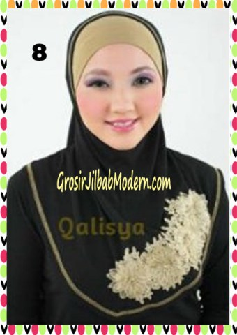Jilbab Syria Ziyan No 8 Hitam