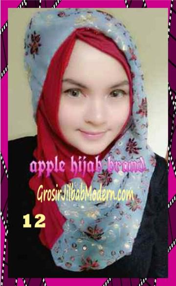 Jilbab Syrpash Instant Nicole Premium by Apple Hijab Brand No 12