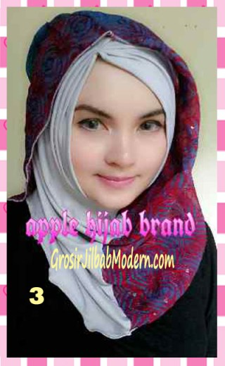 Jilbab Syrpash Instant Nicole by Apple Hijab Brand No 3