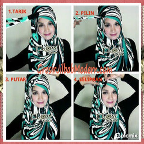 Cara Pakai Jilbab Pashmina Syria Lollipita by Flow Idea Model Lolipop