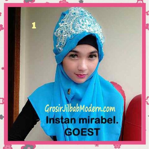 Jilbab Instant Mirabel Original by GOEST No 1 Biru Muda