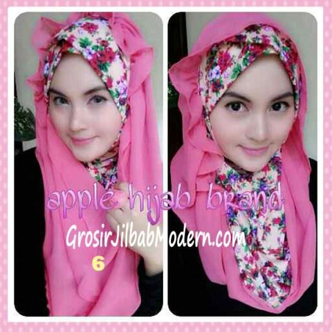 Jilbab Syria Hoodie Flowerist No 6 Pink