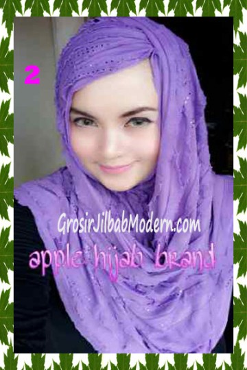 Jilbab Syrpash Aleeza Ruffle Sparkling No 2 Lavender
