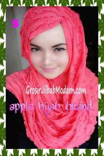 Jilbab Syrpash Aleeza Ruffle Sparkling No 5 Papaya