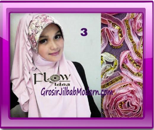 Jilbab Bergo Pet Maryam Original by FLOW Idea No 3 Baby Pink