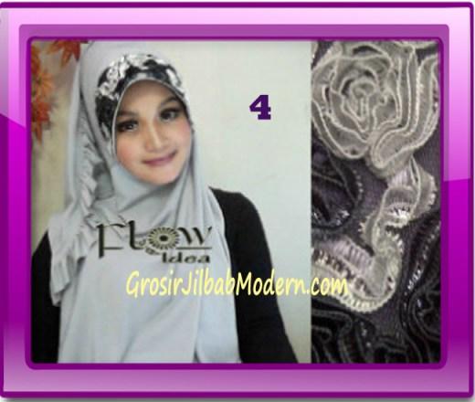 Jilbab Bergo Pet Maryam Original by FLOW Idea No 4 Abu