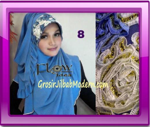 Jilbab Bergo Pet Maryam Original by FLOW Idea No 8 Biru