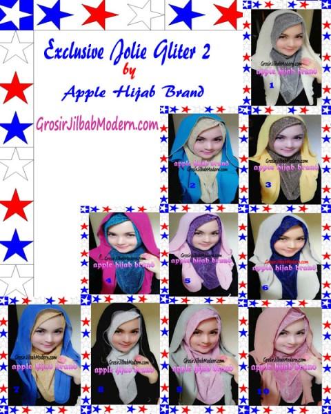 Jilbab Exclusive Jolie Gliter Seri 2 Series