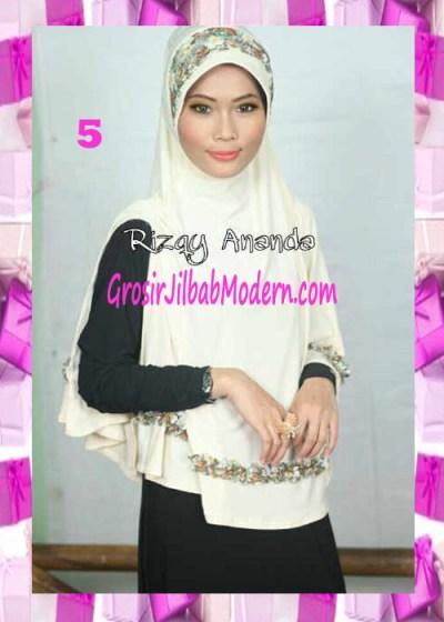 Jilbab Jumbo Syar'i Fatia Modis No 5 Putih Tulang