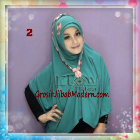 Jilbab Syria Jumbo Faizia Modis Original by FLOW Idea No 2 Hijau Toska