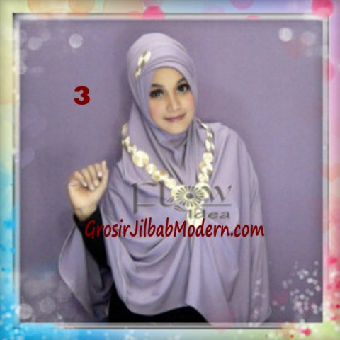 Jilbab Syria Jumbo Faizia Modis Original by FLOW Idea No 3 Ungu Muda