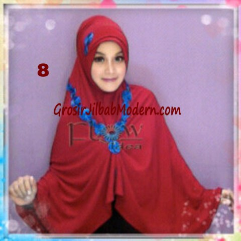 Jilbab Syria Jumbo Faizia Modis Original by FLOW Idea No 8 Merah