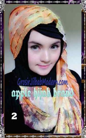 Jilbab Syrpash Claudia Frill  by Apple Hijab Brand No 2