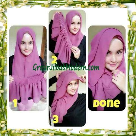 Jilbab Instant Aleeza Pasyir Crinkle By Apple Hijab Brand Cara Pakai Model 3