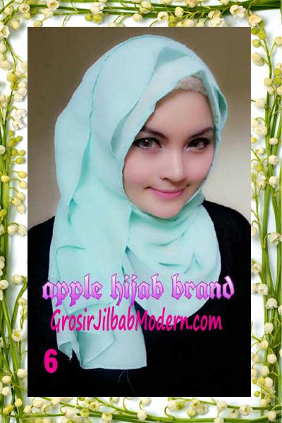 Jilbab Instant Aleeza Pasyir Crinkle By Apple Hijab Brand No 6
