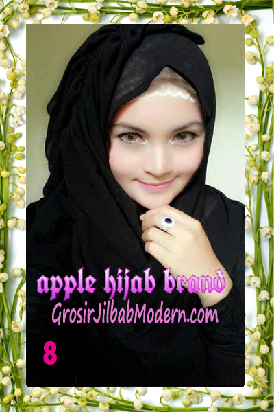 Jilbab Instant Aleeza Pasyir Crinkle By Apple Hijab Brand No 8