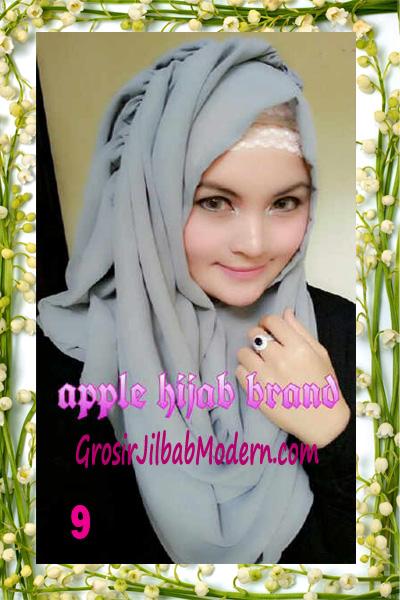 Jilbab Instant Aleeza Pasyir Crinkle By Apple Hijab Brand No 9