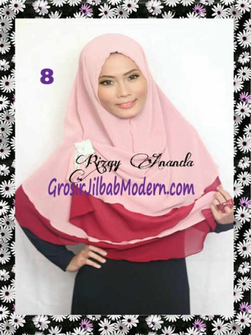 Jilbab Instant Khimar Alena Polos Seri 2 No 8