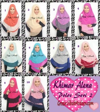 Jilbab Instant Khimar Alena Polos Seri 2 Series