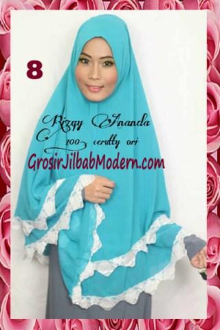 Jilbab Jumbo Cerutti Modern Halimah No 8 Toska