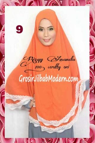 Jilbab Jumbo Cerutti Modern Halimah No 9 Orange