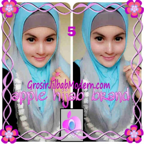 Jilbab Pesta Syria Hoodie Safeea Modis by Apple Hijab Brand No 5 Hijau Muda Combine Abu