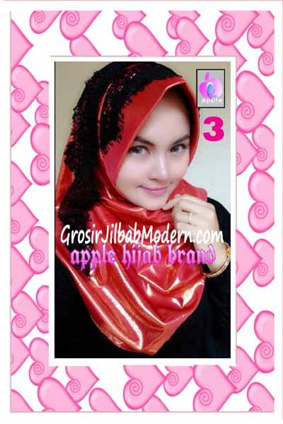 Jilbab Pesta Syria Inara Glowing by Apple Hijab Brand No 3 Oren Bata