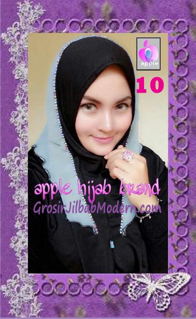 Jilbab Syria Cantik Zhafrina Diamond Original by Apple Hijab Brand No 10 Hitam