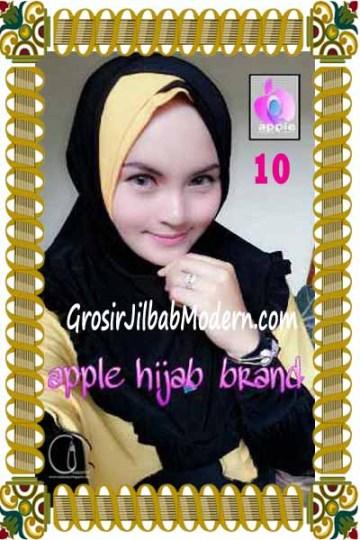 Jilbab Syria Khayra Seri 2 by Apple Hijab Brand No 10 Hitam - Kuning
