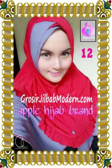 Jilbab Syria Khayra Seri 2 by Apple Hijab Brand No 12 Merah - Ungu Kebiruan