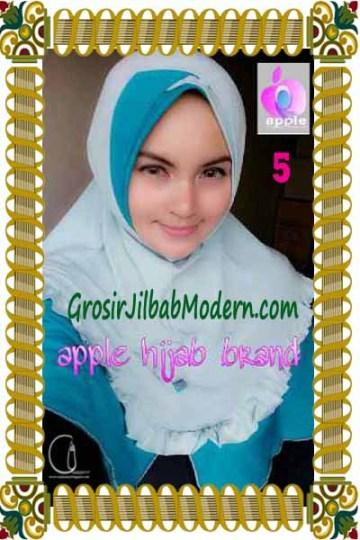 Jilbab Syria Khayra Seri 2 by Apple Hijab Brand No 5 Biru Muda - Biru Toska