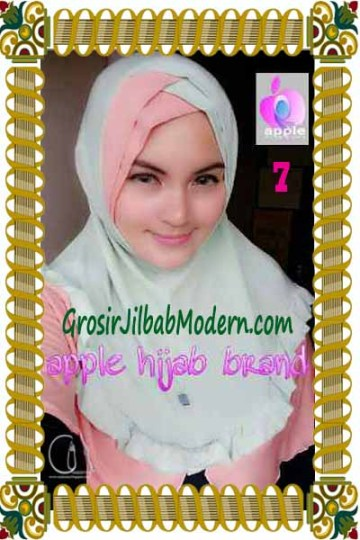 Jilbab Syria Khayra Seri 2 by Apple Hijab Brand No 7 Babe Lime - Dusty Salem