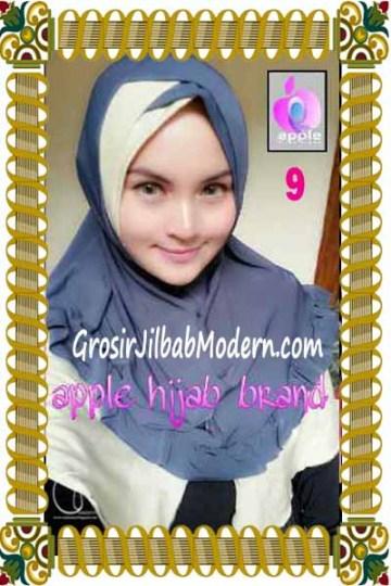 Jilbab Syria Khayra Seri 2 by Apple Hijab Brand No 9 Abu - Krem Kehijauan
