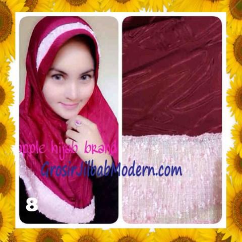 Jilbab Syria Orin Etnik Emboss by Apple Hijab Brand No 8 Marun