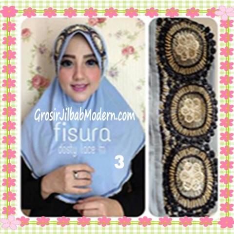 Jilbab Syria Pet Dosty Lace by Fisura Scarf No 3