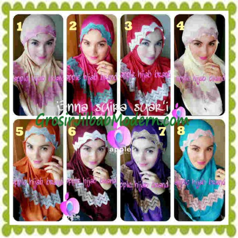 Jilbab Syria Syar'i J3nna by Apple Hijab Brand Series