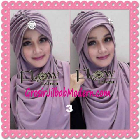 Jilbab Syria Topi Turban Almonda Trendy by FLOW Idea No 3 Dusty Ungu