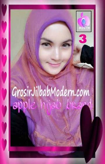 Jilbab Syria Unik Vienna Tutu by Apple Hijab Brand No 3 Ungu Muda