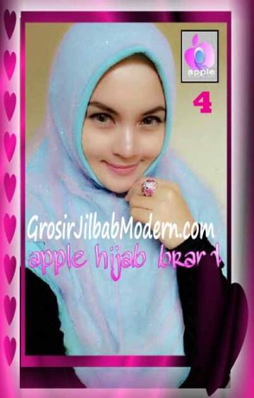 Jilbab Syria Unik Vienna Tutu by Apple Hijab Brand No 4 Biru Muda