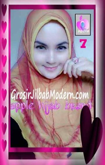 Jilbab Syria Unik Vienna Tutu by Apple Hijab Brand No 7 Kuning