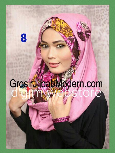 Jilbab Instant Syria Hoodie Latifa Trendy No 8