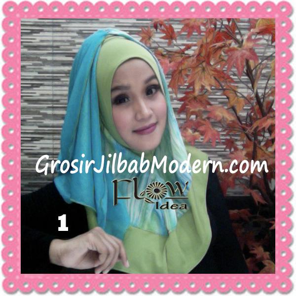 Jilbab Modern Instant Rainy Original by Flow Idea No 1 Hijau Toska