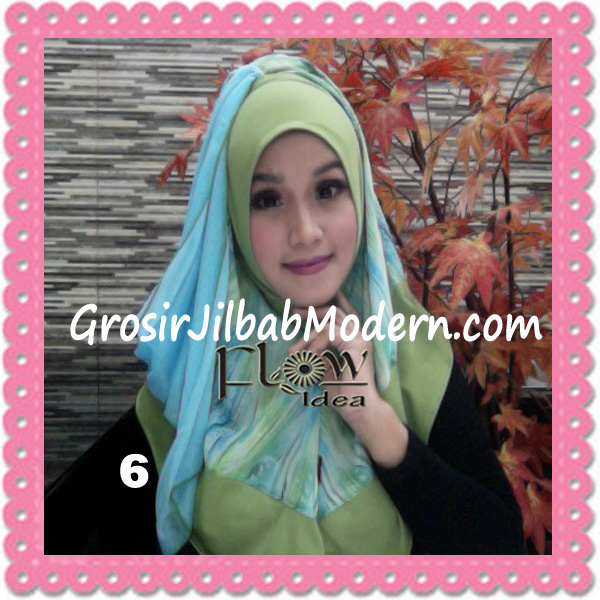 Jilbab Modern Instant Rainy Original by Flow Idea No 6 Hijau Baby Toska